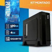KIT MONTADO - Processador INTEL Pentium G4400 / SSD 120GB / 4GB RAM / MB GIGABYTE / Gabinete SLIM / LINUX