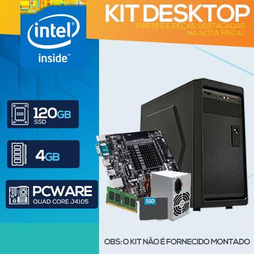KIT DESKTOP - Intel Quad Core J4105G PRO - 241 (NÃO É ENTREGUE MONTADO)
