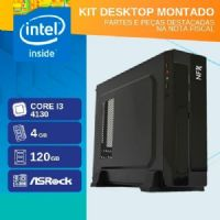 KIT DESKTOP MONTADO - INTEL I3 4130 - 141 SSD SLIM ( CORE I3 4130 / SSD 120GB / 4GB RAM / MB ASROCK / GABINETE SLIM )