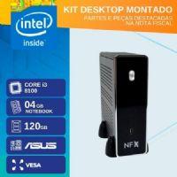 KIT MONTADO - MB ASUS H310T R2.0 / CORE I3 8100 / SSD 120GB / 4GB RAM / 4x USB 3.1 / 4x USB 2.0 / 1x HDMI /  GABINETE MINI-ITX