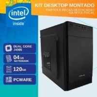 KIT MONTADO - MB PCWARE INTEGRADA COM INTEL GEMINI LAKE DUAL CORE J4005 / SSD 120GB / 4GB RAM / GABINETE 2 BAIAS