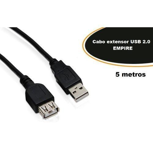 Cabo Extensor USB Macho X Fêmea 5 metros v2.0 com filtro - Empire (3404)