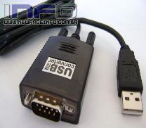 Cabo Conversor USB A Macho x Serial DB09M