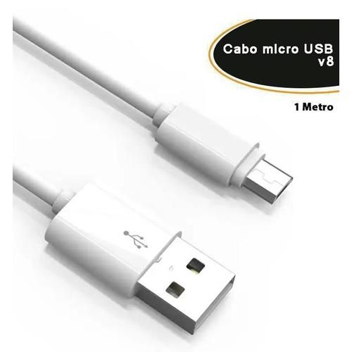Cabo USB X Micro USB 1.00M Padrão Samsung Empire Branco (4767)