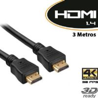 Cabo HDMI Macho X HDMI Macho 3 metros v1.4 / TV 3D (1577)