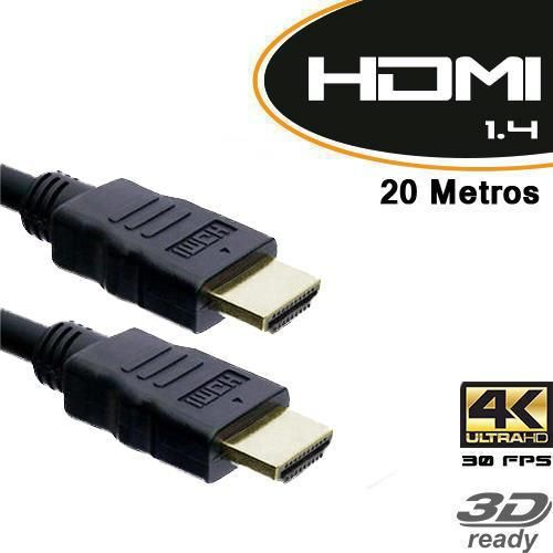 Cabo HDMI Macho X HDMI Macho 20 metros com filtro v1.4 / TV 3D - Empire (1535)