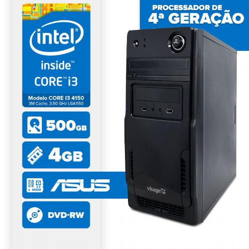 VISAGE PC BLEU I3 4150 - 245AD (CORE I3 4150 / 4GB / 500GB / MB ASUS / DVD-RW / LINUX)