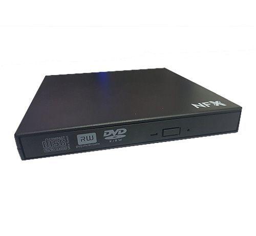 Gravador de DVD USB Externo SLIM NFX Preto