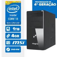 Visage PC BLEU I3 4150 - 241TMD ( Core I3 4150 / 4GB / 1TB / MB ONBOARD / DVD-RW / LINUX )
