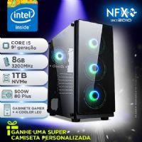NFX PC I5 9600KF - 381T SSD - 3200 ( CORE I5 9600KF [9ª GERAÇÃO] / 8GB [3200MHz] / SSD 1TB [M.2 NVMe]  / FONTE 500W [80PLUS BRONZE]  / GABINETE GAMER NFX DARKHUNTER ) <b>** SEM PLACA DE VIDEO OFF BOARD, DEFINIR A PARTE</b>